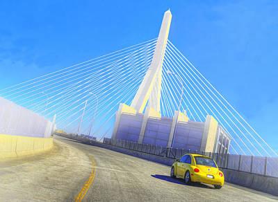 Interstate 93 In Boston Art Print