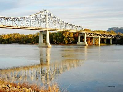 Interstate Bridge In Winona Art Print