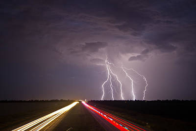 Photograph - Interstate Lightning by Brandon  Ivey