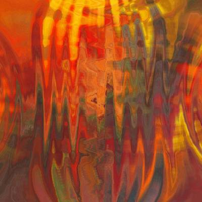 Abstract Digital Color Colorful Expressionism Impressionism Painting - Interstellar  by Steve K