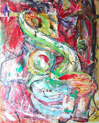 Israeli Mixed Media - Intertwined by Esther Newman-Cohen