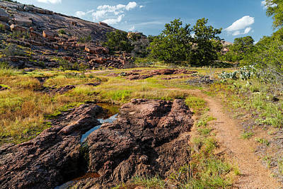 Photograph - Intimacy At Enchanted Rock - Fredericksburg Llano - Texas Hill Country by Silvio Ligutti