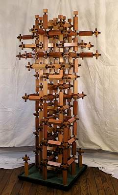 Wood Sculpture - Intimacy by Dave Martsolf