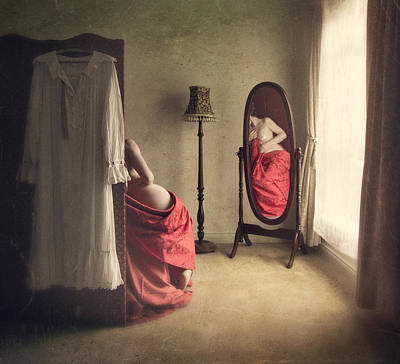 Mirror Art Photograph - Intimacy... by Magdalena Russocka