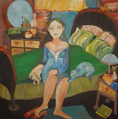 Intimidad Print by Sandra Dooley