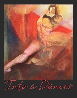 Art Print featuring the pastel Into A Dancer - Pastel Art by Brooks Garten Hauschild