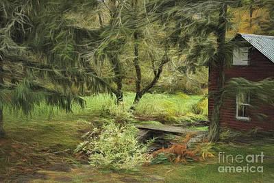 Fir Trees Mixed Media - Into Fairy Land by Deborah Benoit
