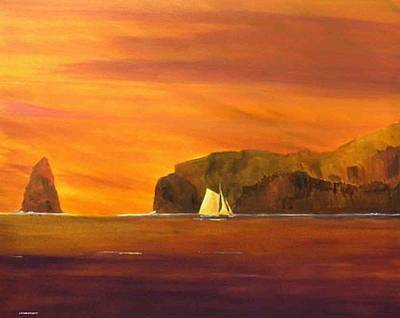 Painting - Into Smugglers Cove by Jim Christley