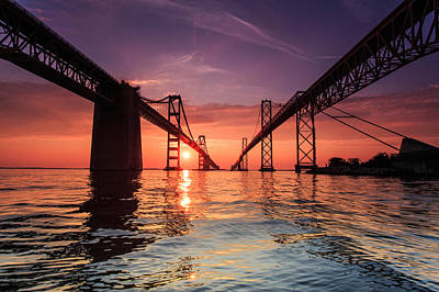 Into Sunrise - Bay Bridge Art Print