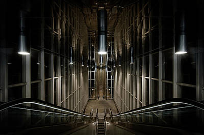 Train Station Photograph - Into The Abyss by Michiel Hageman