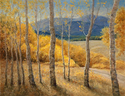 Into The Aspen Grove Art Print