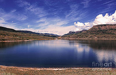 Blue Mesa Reservoir Photograph - Into The Blue Abyss by Janice Rae Pariza