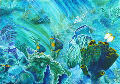 Eco-tourism Painting - Into The Blue by Aine Khell