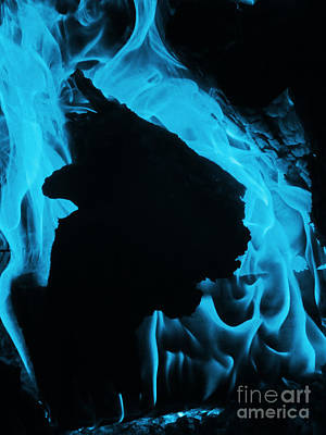 Photograph - Into The Blue Flame by Melissa Lightner