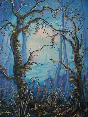 Painting - Into The Blue by Krystyna Spink