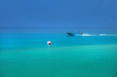 Photograph - Into The Blue. Maldives by Jenny Rainbow