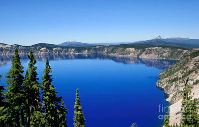 Photograph - Into The Blue Of Crater Lake by David Millenheft