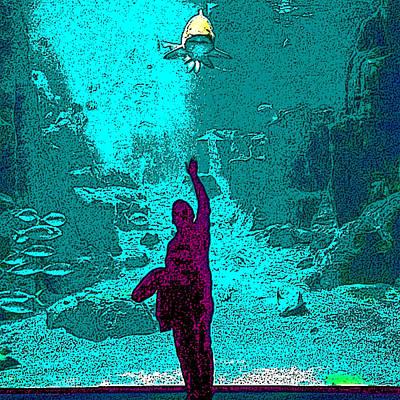 Digital Art - Into The Deep by Karen Buford