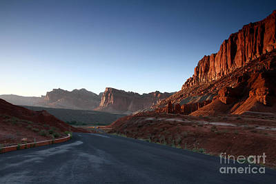 Photograph - Into The Desert At Sunset by Butch Lombardi