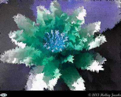 Digital Art - Into The Groove Teal by Holley Jacobs
