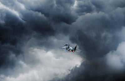 Aircraft Photograph - Into The Inferno by Leon