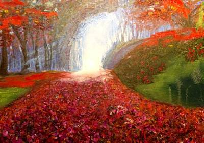 Art Print featuring the painting Into The Light by Belinda Low