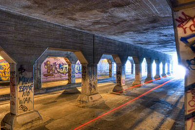 Photograph - Into The Light - Krog Street Tunnel by Mark E Tisdale