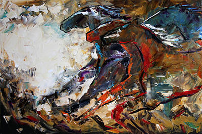 Equine Painting - Into The Light by Laurie Pace