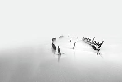 Shipwreck Photograph - Into The Mist by Mel Brackstone