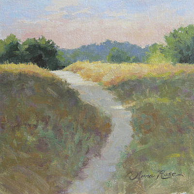 Meadows Painting - Into The Morning Light by Anna Rose Bain