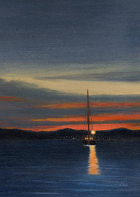 Scottsdale Painting - Into The Night by Gordon Beck