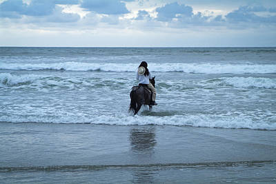 Art Print featuring the photograph Into The Ocean by Lana Enderle