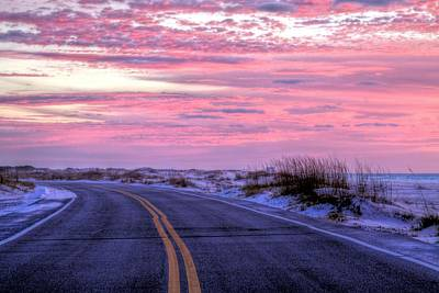 Navarre Beach Photograph - Into The Pink by JC Findley
