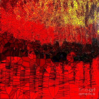 Painting - Into The Red.  2 by Saundra Myles