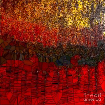 Painting - Into The Red by Saundra Myles