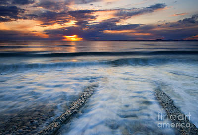 Sea Photograph - Into The Sea by Mike  Dawson