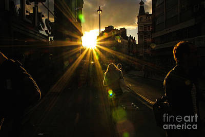 Photograph - Into The Setting Sun by David Warrington