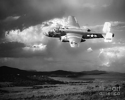 B-25 Photograph - Into The Storm by Arne Hansen