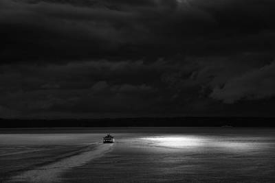 Photograph - Into The Storm Bw by Roger Mullenhour
