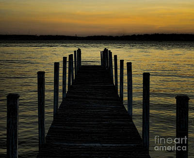 Into The Sunset Art Print by B Wayne Mullins