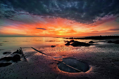 Puddle Photograph - Into The Sunset by ?orsteinn H. Ingibergsson