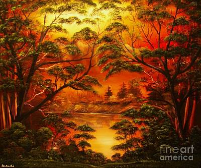 Painting - Into The Twilight-original Sold-buy Giclee Print Nr 29 Of Limited Edition Of 40 Prints  by Eddie Michael Beck