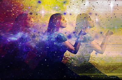 Abstract Movement Digital Art - Into The Universe by Linda Sannuti
