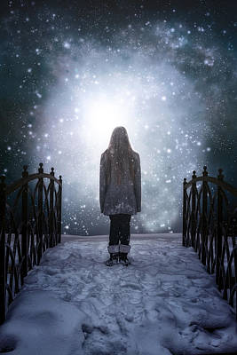 Snowy Night Photograph - Into The Unknown by Joana Kruse