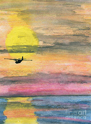 To The Unknown - Pby Catalina On Patrol Art Print