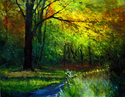 Schmid Painting - Into The Woods by William Worcester