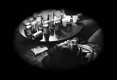 Empty Beer Cans Photograph - Intoxicated Patron Crystal Palace Saloon Tombstone Arizona 1979 by David Lee Guss