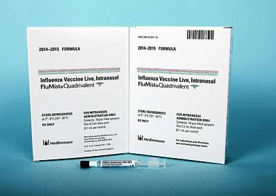 Intranasal Flumist Vaccine And Packaging Art Print