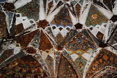 Photograph - Agra - Baby Taj  Ceiling Detail by Jacqueline M Lewis