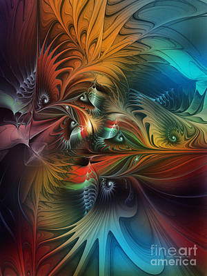 Lyrical Digital Art - Intricate Life Paths-abstract Art by Karin Kuhlmann
